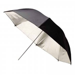 Photo Studio Black Silver Reflective Umbrella